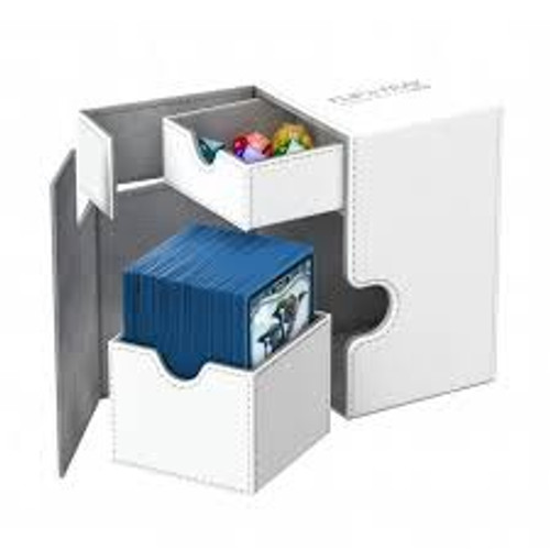 Ultimate Guard Flip Deck Case 100+ Standard Size Xenoskin White