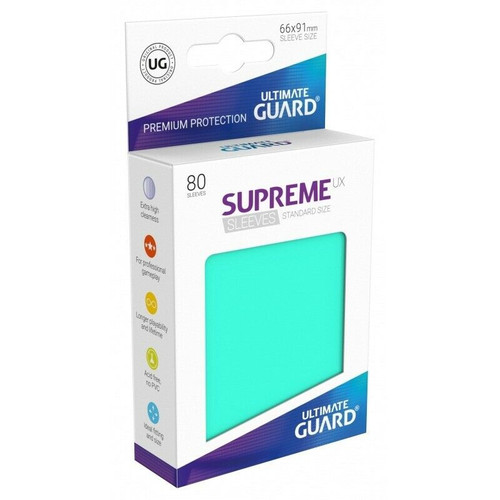Ultimate Guard Supreme UX Sleeves Standard Size Matte Turquoise (80)