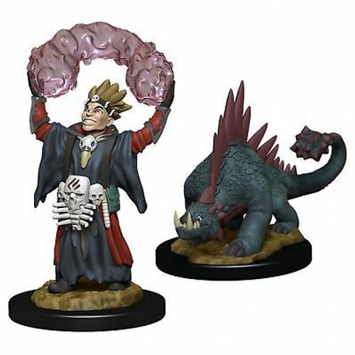 WizKids Wardlings Miniatures Boy Warlock & Lizard