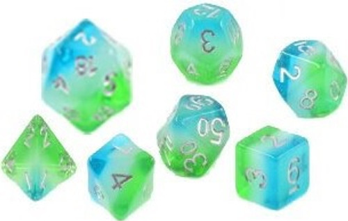 Blue Hawaiian Polyhedral Dice Set - Sirius Dice