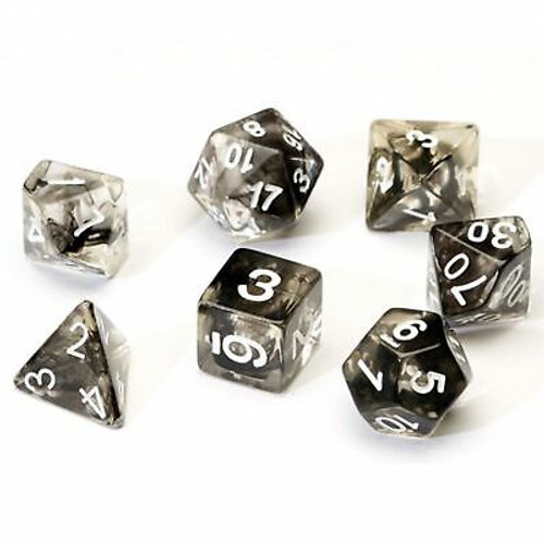 Black Cloud Polyhedral Dice Set - Sirius Dice