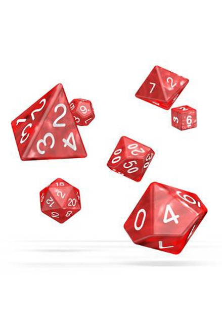 Oakie Doakie Dice RPG Set Marble - Red (7)