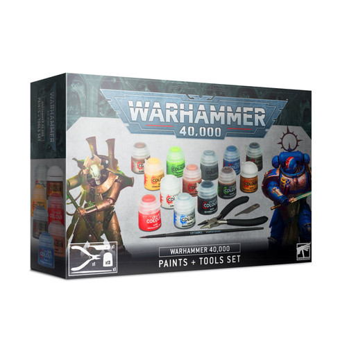 Warhammer 40K Paints + Tools Set