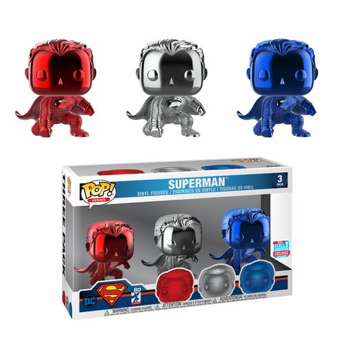 Funko POP! Vinyl: DC - Superman - Chrome 3PK
