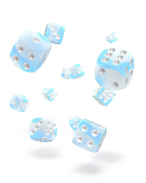 Oakie Doakie Dice D6 Dice 12 mm Glow in the  Dark - Arctic (36)