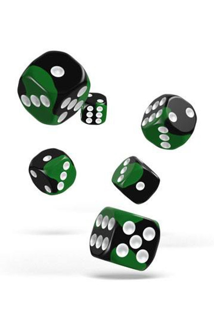 Oakie Doakie Dice D6 Dice 16 mm Glow in the Dark - Biohazard (12)
