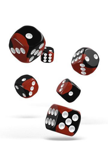 Oakie Doakie Dice D6 Dice 16 mm Glow in the Dark - Lava (12)