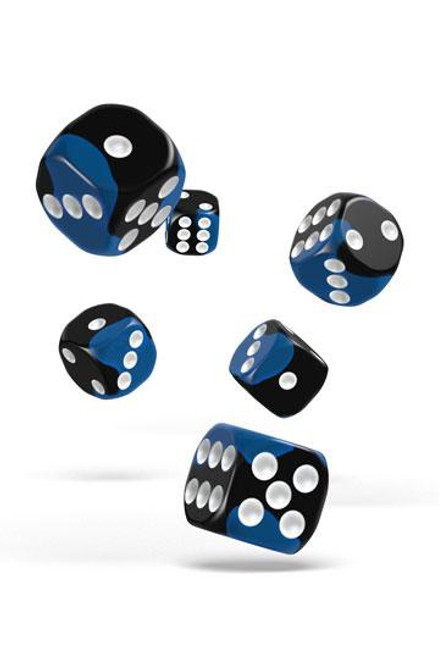 Oakie Doakie Dice D6 Dice 16 mm Glow in the Dark - Deep Ocean (12)