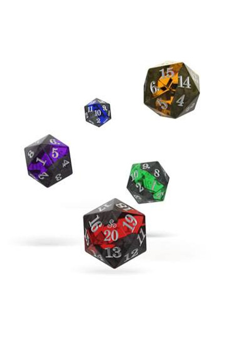 Oakie Doakie Dice D20 Spindown Dice Set Enclave (5)