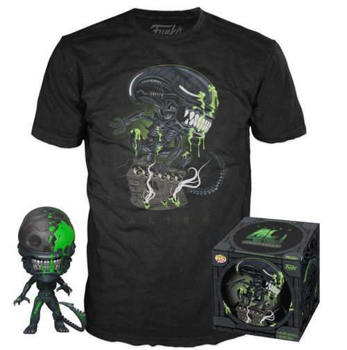 Alien POP! & Tee Box 40th Xenomorph Size L