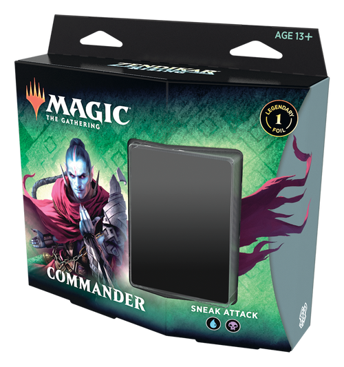 MTG: Zendikar Rising Sneak Attack Blue/Black Commander Deck