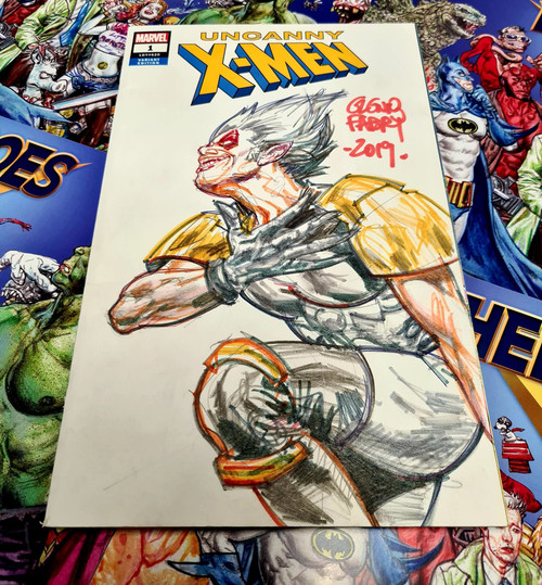 Uncanny X-Men #1 Original Wildside Sketch by Glenn Fabry