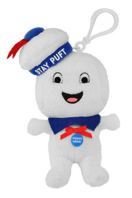 Ghostbusters Talking Plush Keychain Stay-Puft Marshmallow Man Happy 10 cm