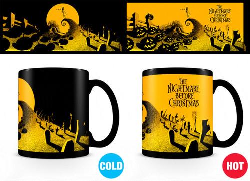 Nightmare Before Christmas Graveyard Scene Heatchange Mug