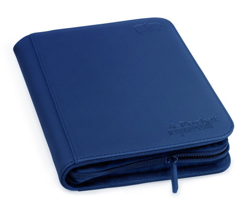 Ultimate Guard Zipfolio 160 - 4-Pocket XenoSkin - Blue