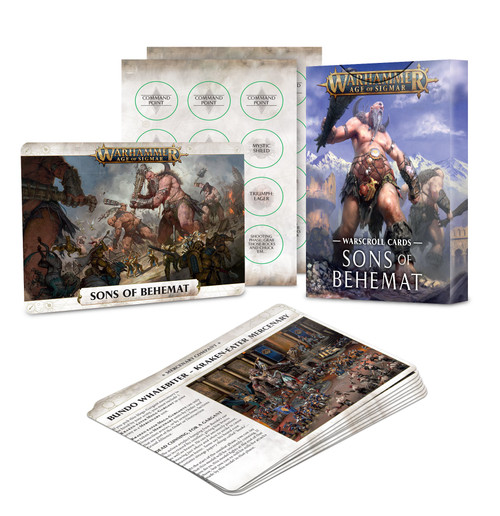 Warscroll Cards: Sons Of Behemat
