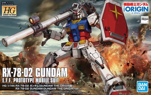 HG RX-78-02 Gundam (Gundam The Origin Ver.) - 1/144 HG