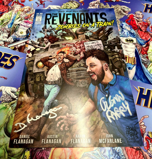 The Revenants Zombies On A Train - Signed by Glenn Fabry &  Daniel Flanagan