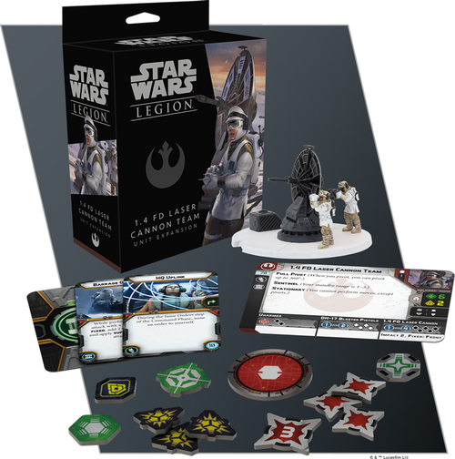 Star Wars: Legion- 1.4 Fd Laser Cannon Team Unit Expansion