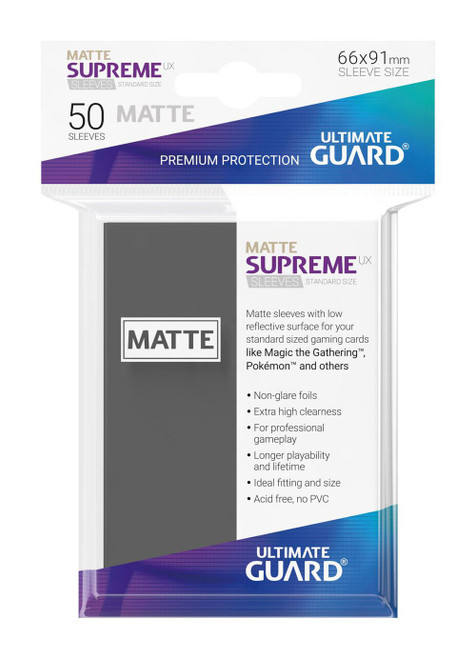 Ultimate Guard Supreme UX Sleeves Standard Size Matte Dark Grey (50)