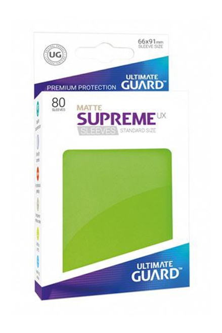 Ultimate Guard Supreme UX Sleeves Standard Size Matte Light Green (80)