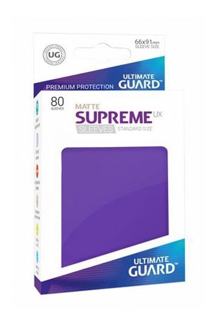 Ultimate Guard Supreme UX Sleeves Standard Size Matte Purple (80)