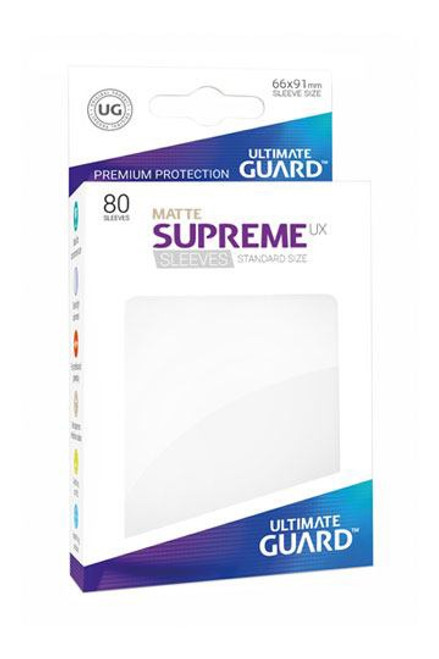 Ultimate Guard Supreme UX Sleeves Standard Size Matte White (80)