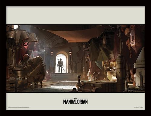 Star Wars: The Mandalorian (Entrance)  Framed 30 x 40cm Print