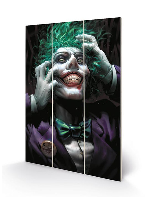 Joker (Crazy Close Up)  Wood Print