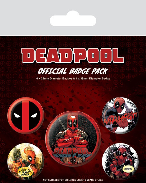 Deadpool (Outta The Way) Badge Pack