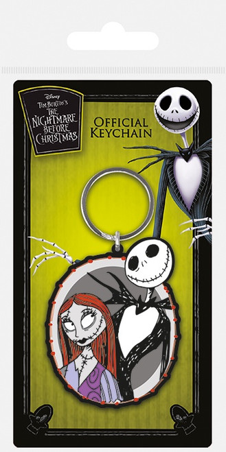 Nightmare Before Christmas (Jack & Sally) Rubber Keychain