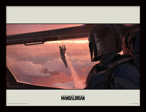 Star Wars: The Mandalorian (Fly) Framed 30 x 40cm Print