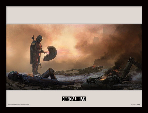 Star Wars: The Mandalorian (Meet) Framed 30 x 40cm Print