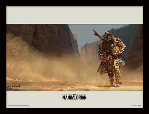 Star Wars: The Mandalorian (Walk) Framed 30 x 40cm Print