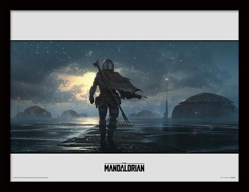 Star Wars: The Mandalorian (Storm) Framed 30 x 40cm Print