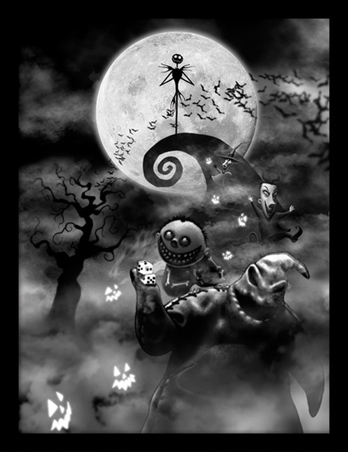 Nightmare Before Christmas (Oogie Boogie Trouble)  Framed 30 x 40cm Print