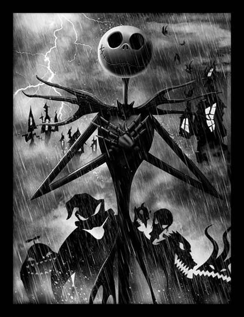 Nightmare Before Christmas (Jack Storm)  Framed 30 x 40cm Print