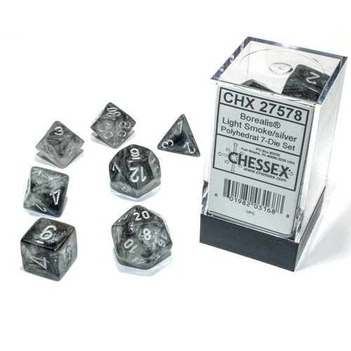 Borealis Polyhedral Light Smoke/silver Luminary 7-Die Set
