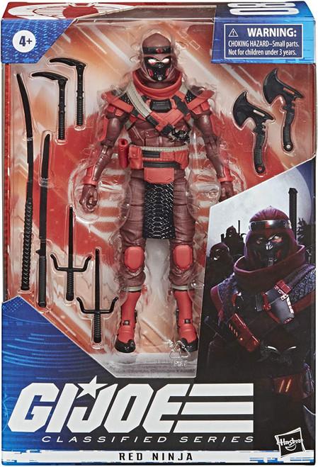 "Gi Joe Classified Series 6"" Red Ninja Action Figure"