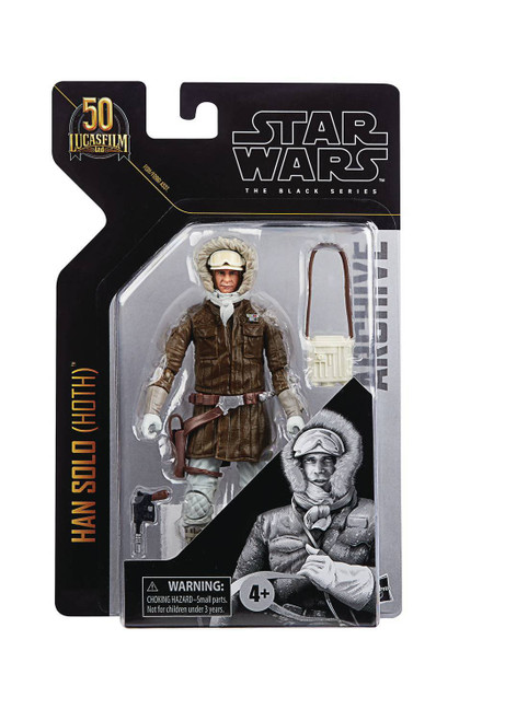 "Star Wars Black Archives 6"" Han Solo Hoth Action Figure"