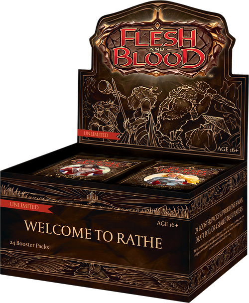 Flesh And Blood TCG: Welcome to Rathe Unlimited Boosters (Sealed Box of 24)