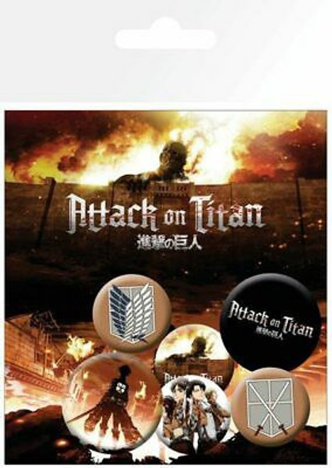 Attack on Titan Pin Badges 6-Pack Mix