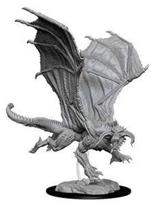D&D Nolzur's Marvelous Miniatures Unpainted Miniature Young Black Dragon