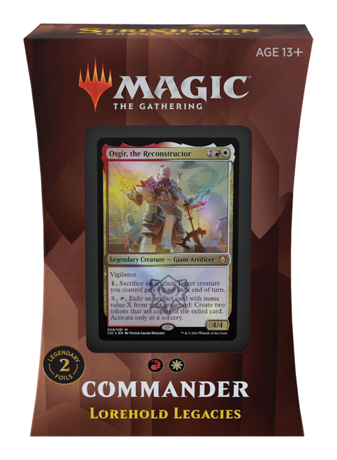 MTG: Strixhaven School of Mages Commander Deck - Lorehold Legacies - Red/White