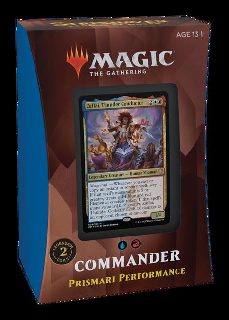 MTG: Strixhaven School of Mages Commander Deck - Prismari Performance - Red/Blue