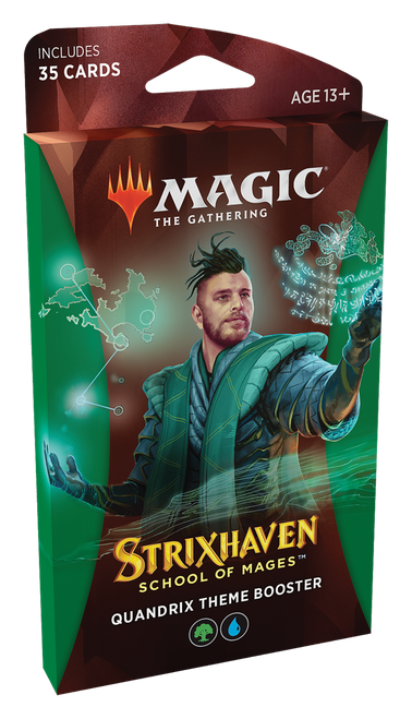 MTG: Strixhaven School of Mages Theme Booster - Quandrix Green/Blue (PRE-ORDER released 23/04/21)