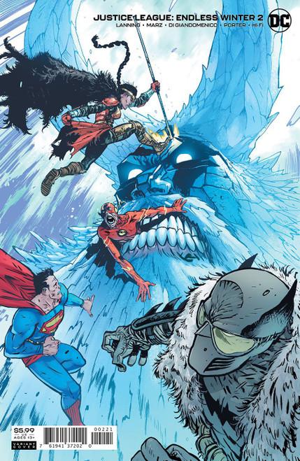 Justice League Endless Winter #2 Card Stock Var Ed