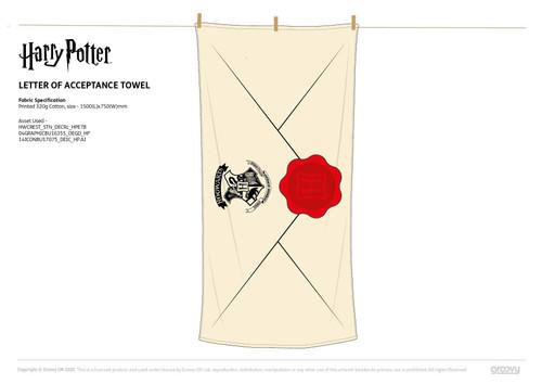 Harry Potter Letter Of Acceptance Towel