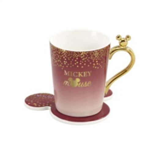 Mickey Berry Glitter Mug & Coaster Set