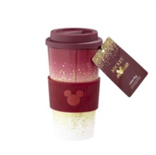 Mickey Berry Glitter Plastic Lidded Mug